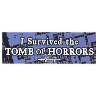 Aufkleber I Survived the TOMB of HORRORS