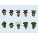 Goblin Generals Heads Set (5)