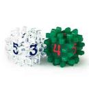 Blackfire Constructible Dice - Clear & Green