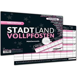 Stadt Land Vollpfosten - Girls Edition (DinA4-Format)