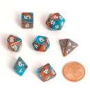 Blackfire Dice - Fairy Dice RPG Set Mini Orange Blue
