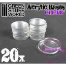 30 mm runde und transparenet Acryl Basen
