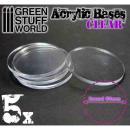 50 mm runde und transparenet Acryl Basen