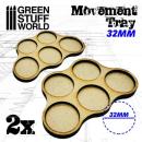Movement Trays 32mm (Skirmish 5)