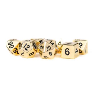 16mm Metal Polyhedral Dice Set: Gold