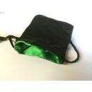 Velvet Dice Bag Green Inside / Black Outside (small)