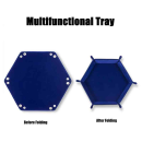 Hexagon Folding Dice Tray (Blue)