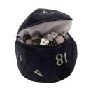 D20 Plush Dice Bag - Black