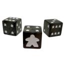 Meeple D6 Dice Set - Black
